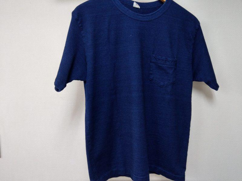 ウエアハウス インディゴTシャツ 色落ち