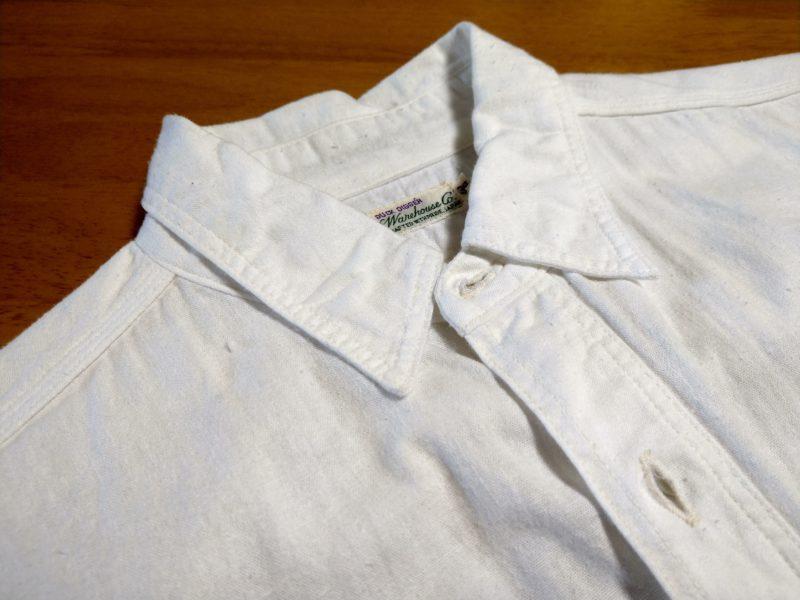 夏のアメカジ白シャツ