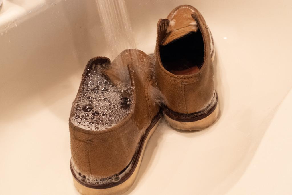 【スエードブーツの丸洗い】中古で買ったレッドウイング綺麗にしてみた